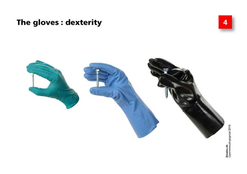 The protective gloves : dexterity