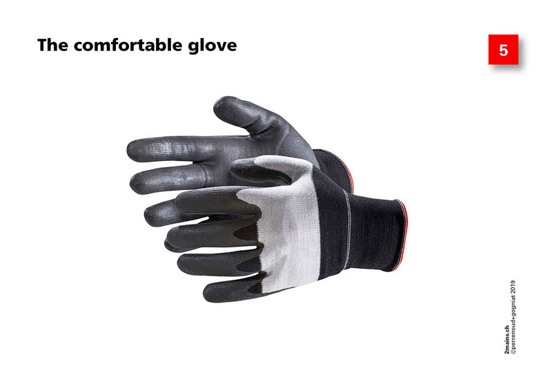 The comfortable glove