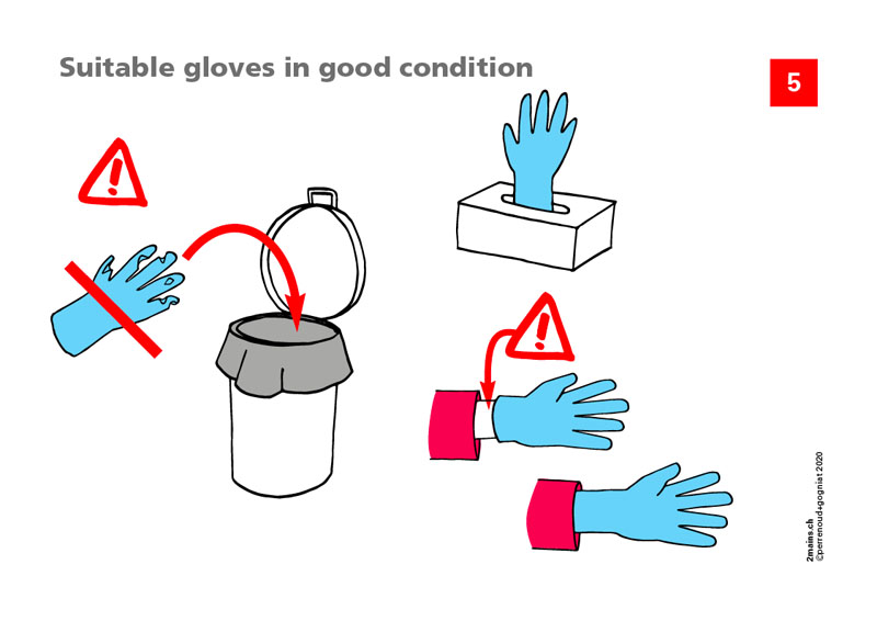 Suitable gloves in good condition