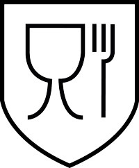 """Glass and fork"" pictogram"